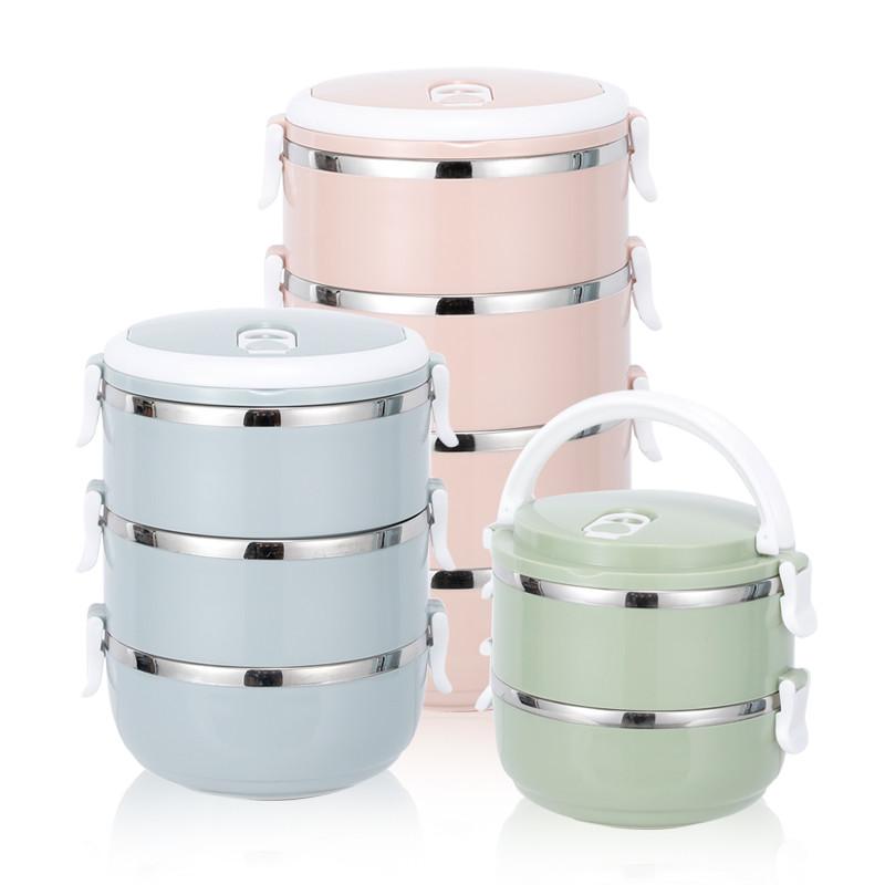 厨公不锈钢便当盒 多层送餐具 带保温袋 密封保温桶