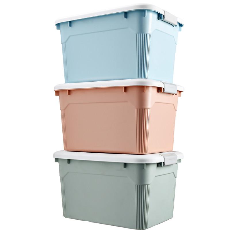 收纳箱塑料特大号 加厚衣服玩具储物箱 三件套
