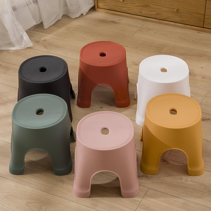 北欧风小凳子 塑料加厚板凳 防滑家用儿童凳