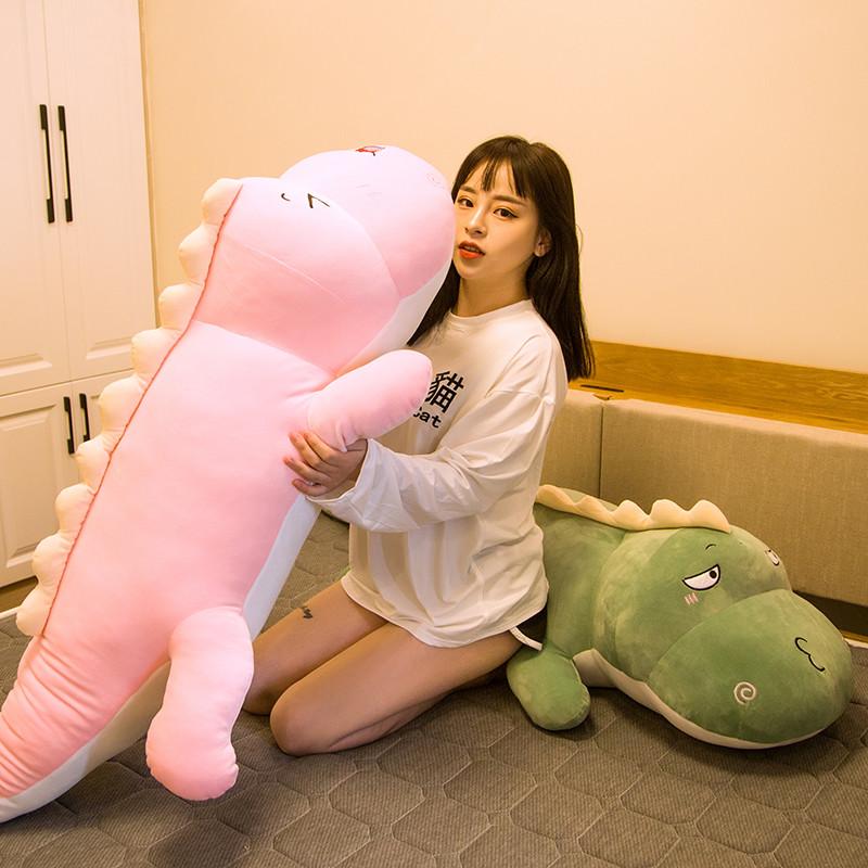鳄鱼恐龙公仔毛绒玩具 睡觉长抱枕 送女生礼物