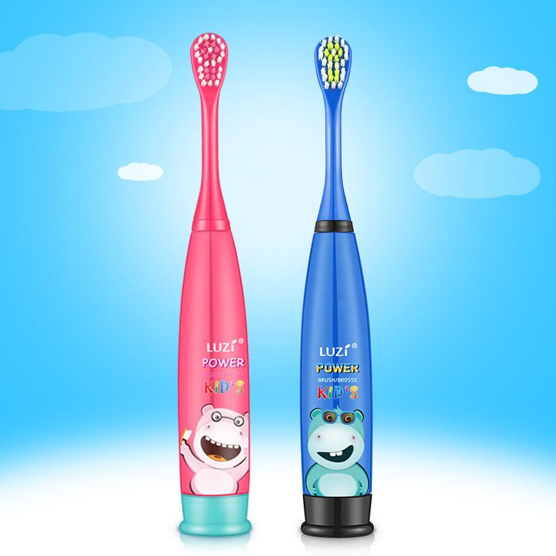 绿姿儿童卡通电动牙刷 声波防水 电池款软毛3-12岁
