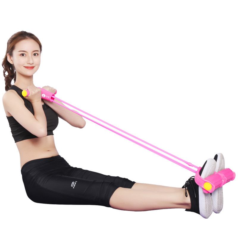 中欧脚蹬拉力器普拉提绳  健身器材 仰卧起坐辅助